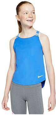 Dry Tank Top Elastika (Little Kids/Big Kids) (Pacific Blue/Football Grey/Football Grey) Girl's Clothing