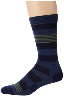 Oxford Crew Lightweight (Denim) Men's Crew Cut Socks Shoes