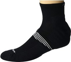 Element Quarter Lightweight with Cushion (Black) Men's Crew Cut Socks Shoes