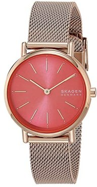 Signatur Two-Hand Women's Watch (SKW2868 Rose Gold Stainless Steel Mesh) Watches