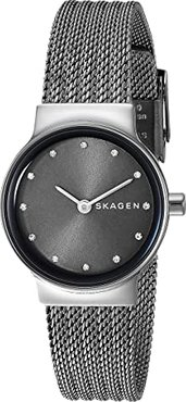 Freja Two-Hand Stainless Steel Mesh Watch (SKW2700 Dark Gray Stainless Steel Mesh) Watches
