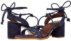 Sophie Heeled Sandals (Navy) Women's Shoes