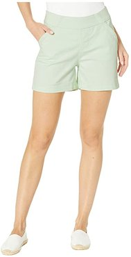 5 Gracie Pull-On Shorts in Twill (Mint Green) Women's Shorts