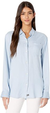 Wilson Solid Long Sleeve (Light Armory Blue) Women's Clothing