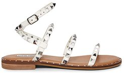 Travel Flat Sandal (White) Women's Shoes
