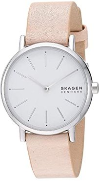 Signatur Two-Hand Women's Watch (SKW2839 Silver Pink Leather) Watches