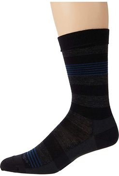 Oxford Crew Lightweight (Black) Men's Crew Cut Socks Shoes