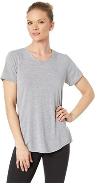 Distance Short Sleeve Top (Heather Ash) Women's Short Sleeve Pullover
