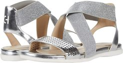 Grand Ambition Elastic Sandal (Silver Specchio Perferated Upper) Women's Shoes