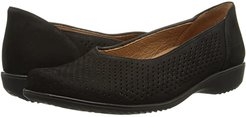 Avril (Black Nubuk) Women's Slip on  Shoes