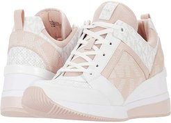 Georgie Trainer (Powder Blush) Women's Lace up casual Shoes