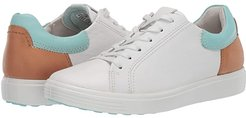 Soft 7 Street Sneaker (White/Eggshell Blue/Lion Cow Leather/Cow Leather/Cow Nubuck) Women's Shoes
