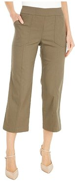 Control Stretch Pull-On Crop Pants with Angled Pocket Detail (Mineral) Women's Casual Pants