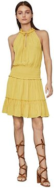 Ruffle Cocktail Dress (Bamboo) Women's Dress