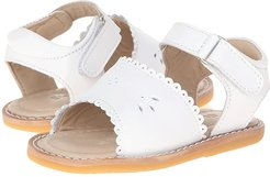 Classic Sandal w/Scallop (Toddler) (White) Girls Shoes