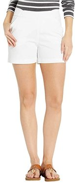 5 Gracie Pull-On Shorts in Twill (White) Women's Shorts