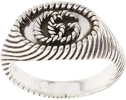 Pinky Ring with GG Marmont Detail (Silver) Ring