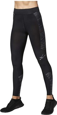 Speed Model Compression Tights (Black/Grey/Blue) Women's Casual Pants