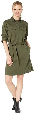 Colville Twill Shirt Dress (Olive) Women's Dress