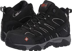 Moab Vertex Mid Waterproof Composite Toe (Black) Men's Work Lace-up Boots