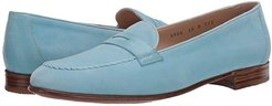 Penny Loafer (Turquoise) Women's Slip on  Shoes