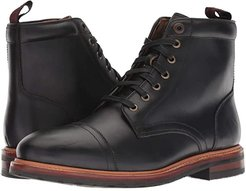 Foundry Cap Toe Lace-Up Boot (Black Horween) Men's Lace-up Boots