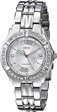 G75511M Stainless Steel Bracelet Watch (Silver Bracelet/Silver Case With Crystals/Silver Dial) Watches