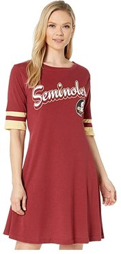 Florida State Seminoles Field Day Dress (Garnet/Vegas Gold) Women's Clothing