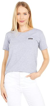 Classic Short Sleeve Pocket T-Shirt (Gray Heather) Women's Clothing