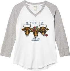 R.E.A.L. Hay Girl T-Shirt (Grey Heather) Women's Clothing