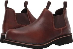 Ranchero Steel Toe Romeo (Brown) Men's Slip on  Shoes