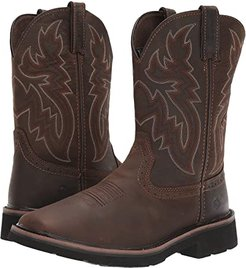 Rancher Wellington Soft Toe (Dark Brown/Rust) Men's Work Boots