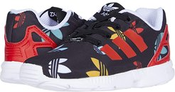 ZX Flux EL (Toddler) (Black/Lush Red/White) Kids Shoes