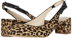 Lainey Pump (50 mm) (Mini Cheetah Haircalf Print Leather/Black Leather) Women's Shoes