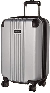 20 Reverb Lightweight Hardside Expandable 8-Wheel Spinner Carry-On Suitcase (Light Silver) Luggage