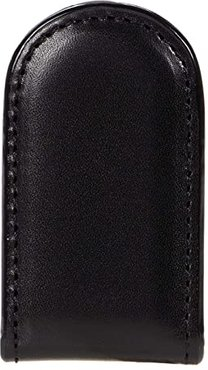 Old Leather Collection - Magnetic Money Clip (Black Leather) Wallet