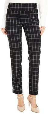 Square Root Pull-On Pants with Back Slit Detail (Black/White) Women's Casual Pants