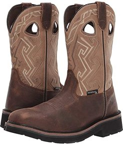Rancher Aztec Steel-Toe Wellington Work Boot (Bone) Men's Boots