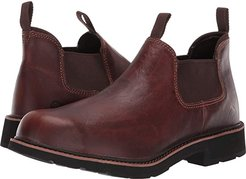 Rancher Romeo - Soft Toe (Brown) Men's Slip on  Shoes