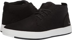 Davis Square Leather and Fabric Chukka (Black Nubuck) Men's Lace-up Boots