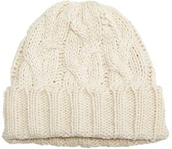 Fisherman Cable Hat (Ivory) Beanies