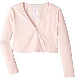Crossover Cardigan (Toddler/Little Kids/Big Kids) (Candy Pink) Girl's Sweater