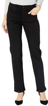 Gia Glider/Revolutionary Pull-On Straight Jeans in Black Rinse (Black Rinse) Women's Jeans
