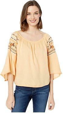 Rachel Top (Apricot Rays) Women's Clothing