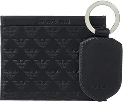 Card Holder/Key Chain Gift Set (Black) Handbags