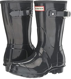 Original Short Gloss Rain Boots (Dark Slate) Women's Rain Boots