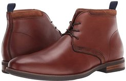 Uptown Plain Toe Chukka Boot (Cognac Leather/Suede) Men's Boots