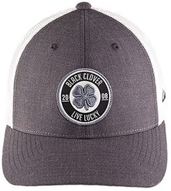 Anniversary Patch 9 Hat (Woven Label Clover/Grey/White) Baseball Caps