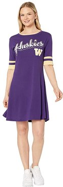 Washington Huskies Field Day Dress (Ravens Purple/Vegas Gold) Women's Clothing