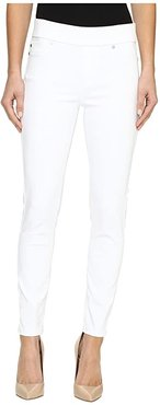 Sienna Pull-On Ankle Slub Stretch Twill in Bright White (Bright White) Women's Jeans